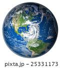 地球 球体 ハリケーンのイラスト 25331173