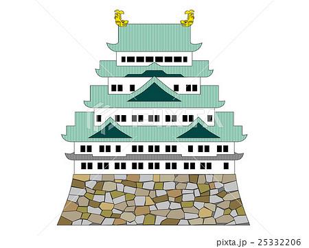 名古屋城 線画イラスト 25332206
