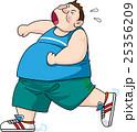 ジョギング 肥満 ダイエットのイラスト 25356209