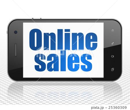 Advertising concept: Smartphone with Online Salesのイラスト素材 [25360309] - PIXTA