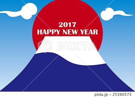 年賀状イラスト 2017 富士山のイラスト素材 25360573 Pixta