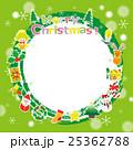 クリスマス リース フレームのイラスト 25362788