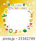 クリスマス リース フレームのイラスト 25362789
