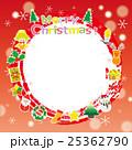 クリスマス リース フレームのイラスト 25362790