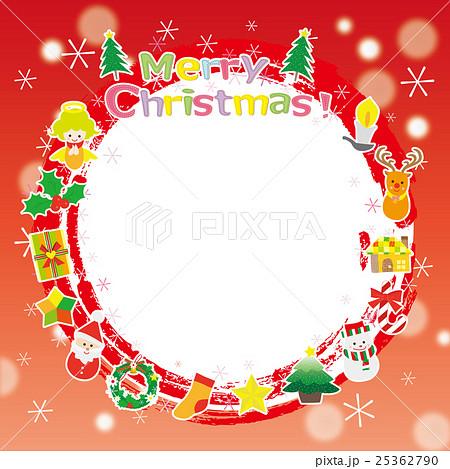 クリスマス素材 リース フォトフレーム 25362790
