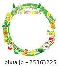 クリスマス リース フレームのイラスト 25363225