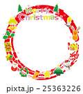 クリスマス リース フレームのイラスト 25363226