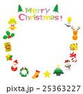 クリスマス リース フレームのイラスト 25363227