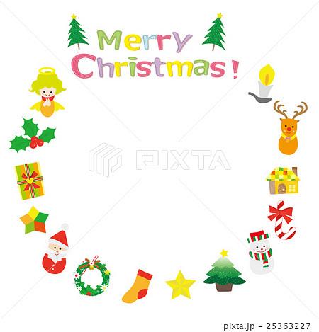 クリスマス素材 リース 25363227