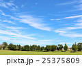 秋の青空と街の公園風景 25375809