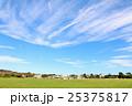 秋晴れの青空と公園風景 25375817