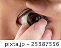 目 コンタクトレンズ 脱着の写真 25387556