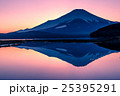 夕暮の富士山と山中湖 25395291
