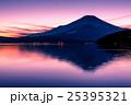 夕暮の富士山と山中湖 25395321