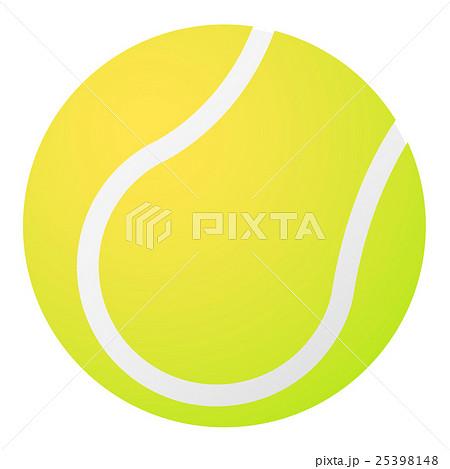 テニスボールのイラスト 25398148