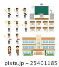 学校のセット【フラット人間・シリーズ】 25401185
