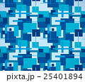 四角形模様のテキスタイル(青) 25401894