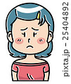 人物 女性 困るのイラスト 25404892