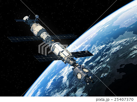 International Space Station Orbiting Earth 25407370