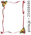 クリスマス リボン ヒイラギのイラスト 25408490