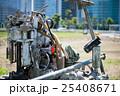 建設現場のボーリングマシン 25408671