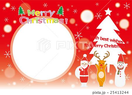 クリスマスカード フォトフレームのイラスト素材 25413244 Pixta