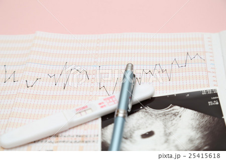 エコー写真と妊娠検査薬 25415618