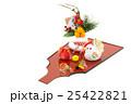 酉年・羽子板・鏡餅・ニワトリの親子 25422821