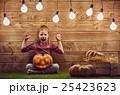 kid with a pumpkin head 25423623