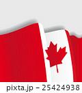 Canadian waving Flag. Vector illustration. 25424938