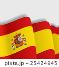 Spanish waving Flag. Vector illustration. 25424945