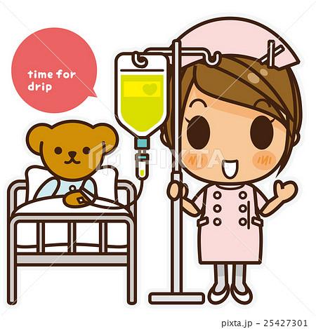 オンナノコ 看護師(ピンク) 点滴 25427301