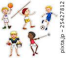 バスケ バスケットボール アメリカンフットボールのイラスト 25427812