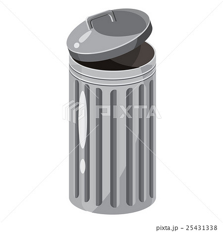 Trash bin icon, cartoon styleのイラスト素材 [25431338] - PIXTA