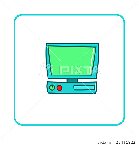 Old computer icon, simple styleのイラスト素材 [25431822] - PIXTA