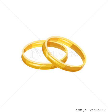 wedding rings icon cartoon styleのイラスト素材 25434339 pixta