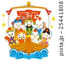 七福神 酉 宝船のイラスト 25441808