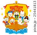 七福神 酉 宝船のイラスト 25441813