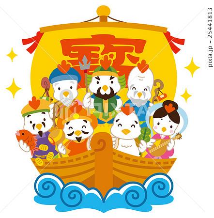 七福神 酉 宝船 25441813
