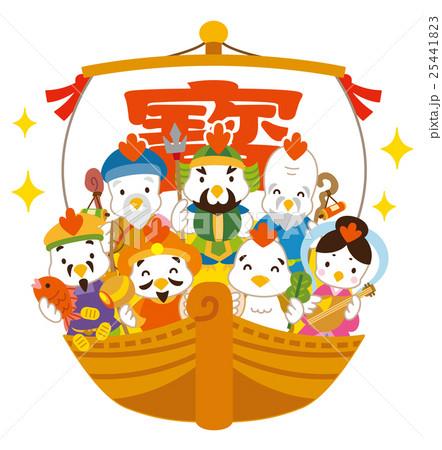 七福神 酉 宝船 25441823