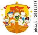 七福神 酉 宝船のイラスト 25441826