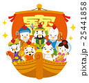 七福神 酉 宝船のイラスト 25441858