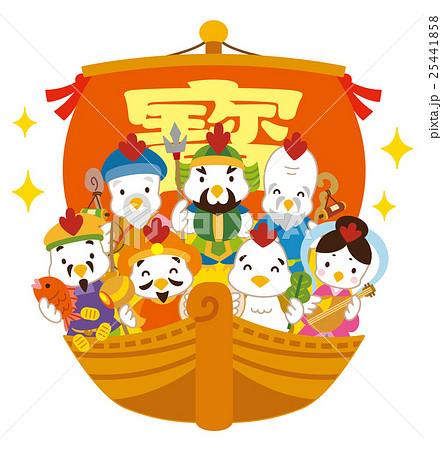七福神 酉 宝船 25441858