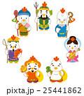 七福神 酉 年賀状素材のイラスト 25441862
