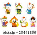 七福神 酉 年賀状素材のイラスト 25441866