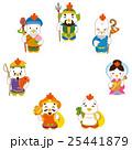 七福神 酉 年賀状素材のイラスト 25441879
