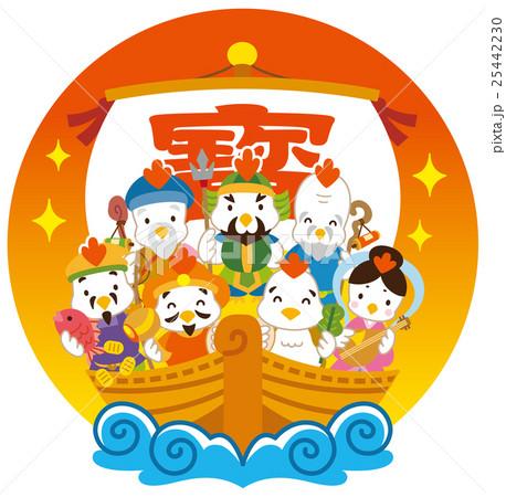七福神 酉 宝船 25442230