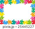 カラフルなパズルピースのフレーム 25445227