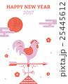 酉年 年賀状 風見鶏のイラスト 25445612