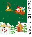 クリスマス サンタとトナカイ 25446470